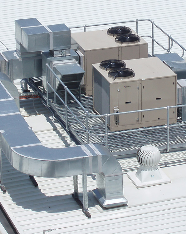 Commerical AC Unit Installed by Air Temp of Cleveland